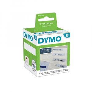 Etichete termice, DYMO LabelWriter, dosare suspendate, permanente, 12mmx50mm, hartie alba, 1 rola/cutie, 220 etichete/rola, 99017 S07224607