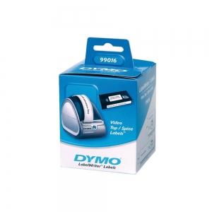 Etichete termice, DYMO LabelWriter, casete video, permanente, hartie alba, 2 role/cutie, 150 etichete/rola, 99016 S07224504