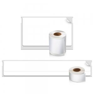 Etichete termice, DYMO LabelWriter, casete video, permanente, hartie alba, 2 role/cutie, 150 etichete/rola, 99016 S07224501