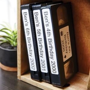Etichete termice, DYMO LabelWriter, casete video, permanente, hartie alba, 2 role/cutie, 150 etichete/rola, 99016 S07224503