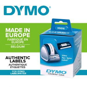 Etichete termice, DYMO LabelWriter, casete video, permanente, hartie alba, 2 role/cutie, 150 etichete/rola, 99016 S07224500