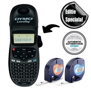 Set Aparat de etichetat Dymo LetraTag 100H Plus Black Edition, ABC, etichete plastic autocolante si o banda hartie18