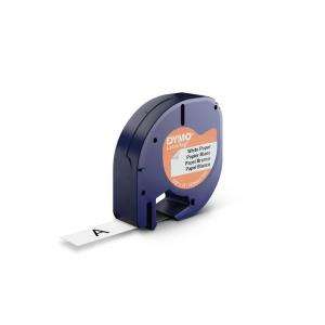 Set EtichetatorDymo LetraTagLT-100H Plus Albastru, ABC, etichete plastic autocolante galbene DYMO LetraTag si o banda hartie alba14