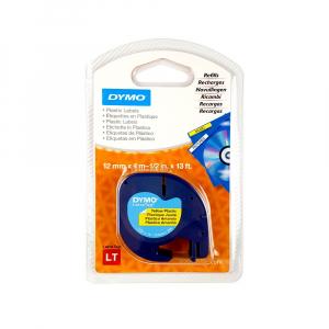 Set EtichetatorDymo LetraTagLT-100H Plus Albastru, ABC, etichete plastic autocolante galbene DYMO LetraTag si o banda hartie alba16