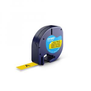 Set EtichetatorDymo LetraTagLT-100H Plus Albastru, ABC, etichete plastic autocolante galbene DYMO LetraTag si o banda hartie alba15