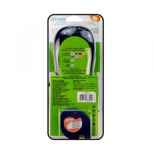 Set EtichetatorDymo LetraTagLT-100H Plus Albastru, ABC, etichete plastic autocolante galbene DYMO LetraTag si o banda hartie alba18