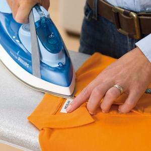 Set DYMO Letratag Iron-On 10 plus 1, etichete pentru haine, 12mm x 4m, alb 11 bucati/set DY18769P 187694