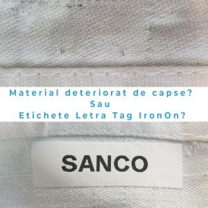 Set DYMO Letratag Iron-On 10 plus 1, etichete pentru haine, 12mm x 4m, alb 11 bucati/set DY18769P 187695