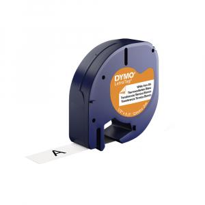 Set DYMO Letratag Iron-On 10 plus 1, etichete pentru haine, 12mm x 4m, alb 11 bucati/set DY18769P 187691