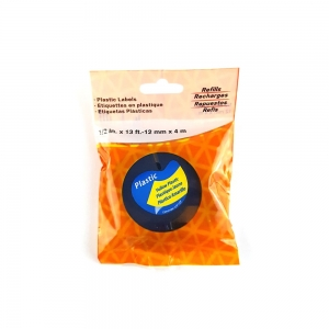 Etichete plastic autocolante, compatibile, DYMO LetraTag, 12mmx4m, galben, 91202 S0721670-C5