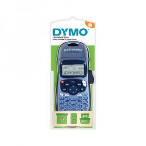 Etichetator Dymo LetraTag LT-100H Plus Albastru, tastatura ABC, S0883980, 19757UK2