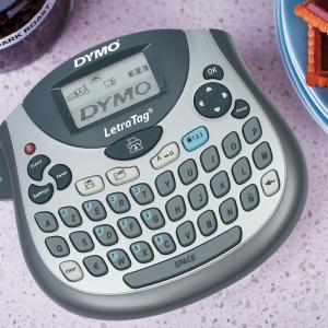 Etichetator Dymo LetraTag LT-100T, compact si portabil, tastatura AZERTY, editare eticheta pe 2 randuri S07583809