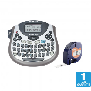 Etichetator Dymo LetraTag LT-100T, compact si portabil, tastatura AZERTY, editare eticheta pe 2 randuri S07583801