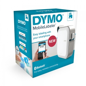 Dymo MobileLabeler Bluetooth Label Printer and Professional Label Tape D1 12mm x 7m, Black/Clear 197824612