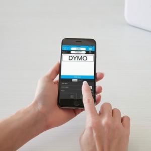 Imprimanta Etichete Bluetooth Dymo MobileLabeler si o caseta etichete profesionale D1 12 mm x 3m, negru/auriu, 1978246, DY 20843497