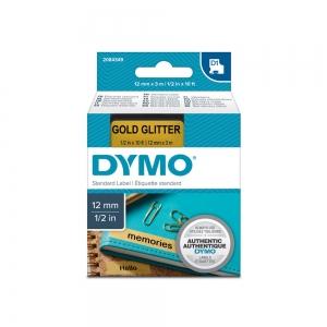 Imprimanta Etichete Bluetooth Dymo MobileLabeler si o caseta etichete profesionale D1 12 mm x 3m, negru/auriu, 1978246, DY 20843499