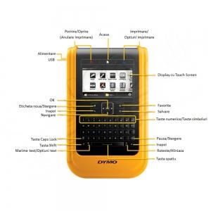 Aparat de etichetat industrial DYMO XTL 500 Kit cu servieta, conectare PC, QWERTY, DY1873489, 187348917