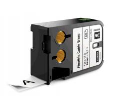 DYMO XTL etichete autoadezive nailon flexibil 24mm x 5.5m negru/alb 18688080