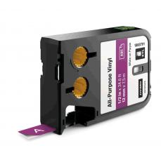Etichete industriale autoadezive, DYMO XTL, vinil, 12mm x 7m, alb/violet, 18687910