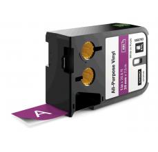 Etichete industriale autoadezive, DYMO XTL, vinil, 24mm x 7m, alb/violet, 18687930