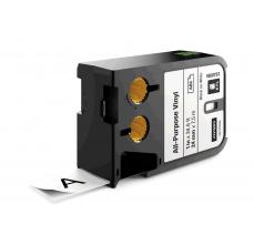 Etichete industriale autoadezive, DYMO XTL, vinil, 24mm x 7m, negru/alb, 18687530