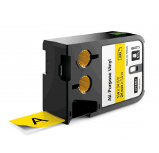 Etichete industriale autoadezive, DYMO XTL, vinil, 24mm x 7m, negru/galben, 18687730