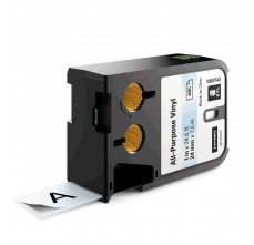 Etichete industriale autoadezive, DYMO XTL, vinil, 24mm x 7m, negru/transparent, 18687430