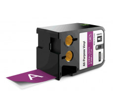 Etichete industriale autoadezive, DYMO XTL, vinil, 41mm x 7m, alb/violet, 18687940
