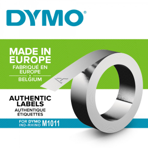 Embossing metallic industrial labels DYMO, 12mmx4,8m, aluminium, 31000 S07201600