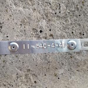 Embossing metallic industrial labels DYMO, 12mmx4,8m, aluminium, 31000 S07201608