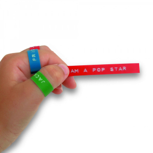 Etichete plastic embosabile Compatibile Omega, 9mmx3m, negru, albastru, rosu 3 buc/set5