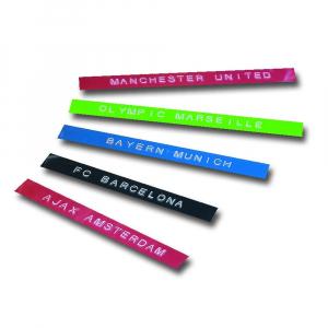 Etichete plastic embosabile Compatibile Omega, 9mmx3m, negru, albastru, rosu 3 buc/set14