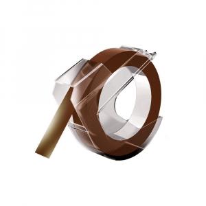 Etichete plastic embosabile compatibile DYMO Omega, 9mmx3m, maro, 520105, 520107, 520108 S08981600
