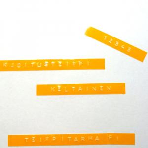 Etichete plastic embosabile compatibile Omega, 9mmx3m, galben, A5201081