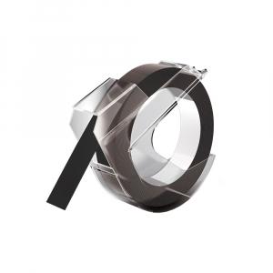 Etichete plastic embosabile compatibile Omega, 9mmx3m, negru, S0898130-C0