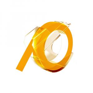 Etichete plastic embosabile compatibile Omega, 9mmx3m, galben, A5201080
