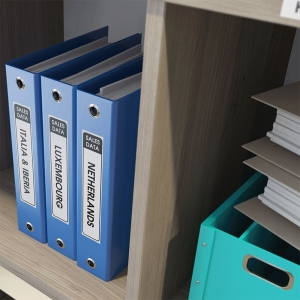 Etichete termice autocolante compatibile, Brother DK-22210, hartie alba, modul continuu, 29mmx30.48m, suport din plastic inclus. 2 role / set1