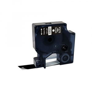 Etichete autocolante compatibile, 12mm x 7m, alb/negru 45021 S0720610-C0