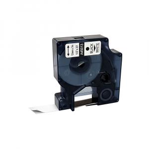 Etichete autocolante compatibile, 12mm x 7m, negru/alb, 45013 S0720530-C0