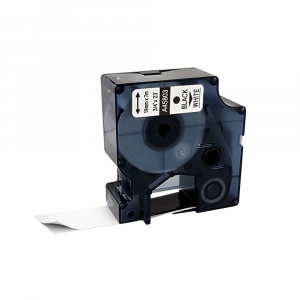 Etichete autocolante compatibile, 19mm x 7m, negru/alb, 45803 S0720830-C0