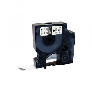 Etichete autocolante compatibile, 9mm x 7m, negru/alb, 40913 S0720680-C0