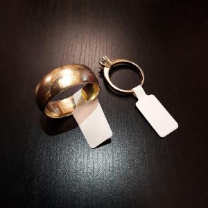 Etichete bijuterii compatibile Dymo, 11mm x 54mm, polipropilena, albe, punte neadeziva, 1500 etich/rola A113512