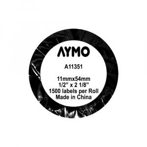 Etichete bijuterii compatibile Dymo, 11mm x 54mm, polipropilena, albe, punte neadeziva, 1500 etich/rola A113516