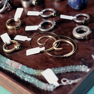 Etichete bijuterii compatibile Dymo, 11mm x 54mm, polipropilena, albe, punte neadeziva, 1500 etich/rola A113513