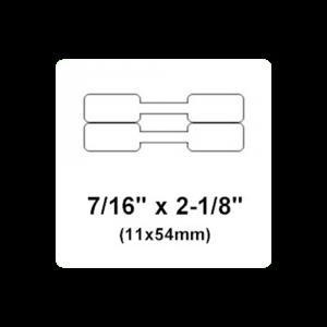 Etichete bijuterii compatibile Dymo, 11mm x 54mm, polipropilena, albe, punte neadeziva, 1500 etich/rola A113514