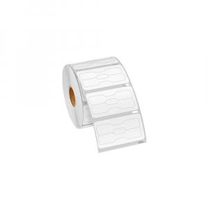 Etichete bijuterii compatibile Dymo, 11mm x 54mm, polipropilena, albe, punte neadeziva, 1500 etich/rola A113510