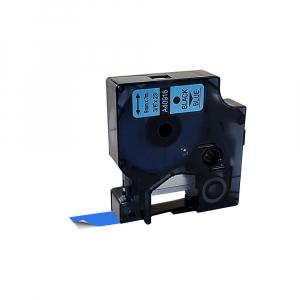 Etichete compatibile DYMO LabelManager 9mm x 7m, negru/albastru 40916 DY409160