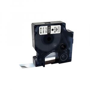Etichete compatibile DYMO LabelManager 9mm x 7m, negru/transparent 40910 DY409100