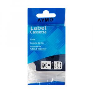 Etichete compatibile DYMO LabelManager D1 24mm x 7m, negru/alb, 53713 DY53713 S07209304