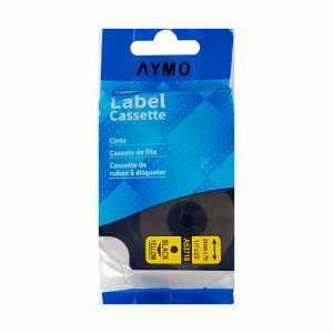 Etichete compatibile DYMO LabelManager D1 24mm x 7m, negru/galben, 53718 DY53718 S07209803